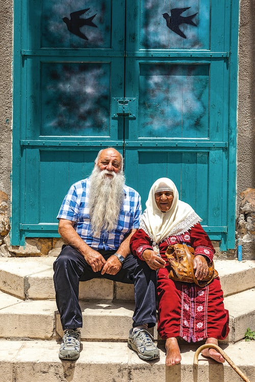 Uri Jeremias and Fatmeh Wachesh, in the old port city of Akko in Western Galilee