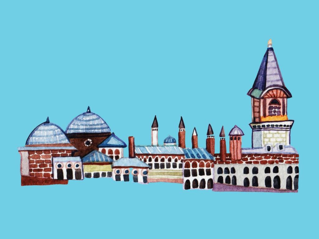 Topkapi Palace Illusttation; Istanbul