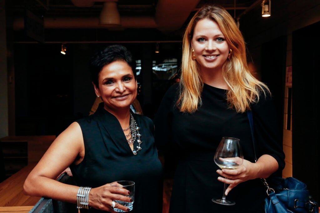 Lynmar Estate's Anisya Fritz with Punch's Lizzie Munro.