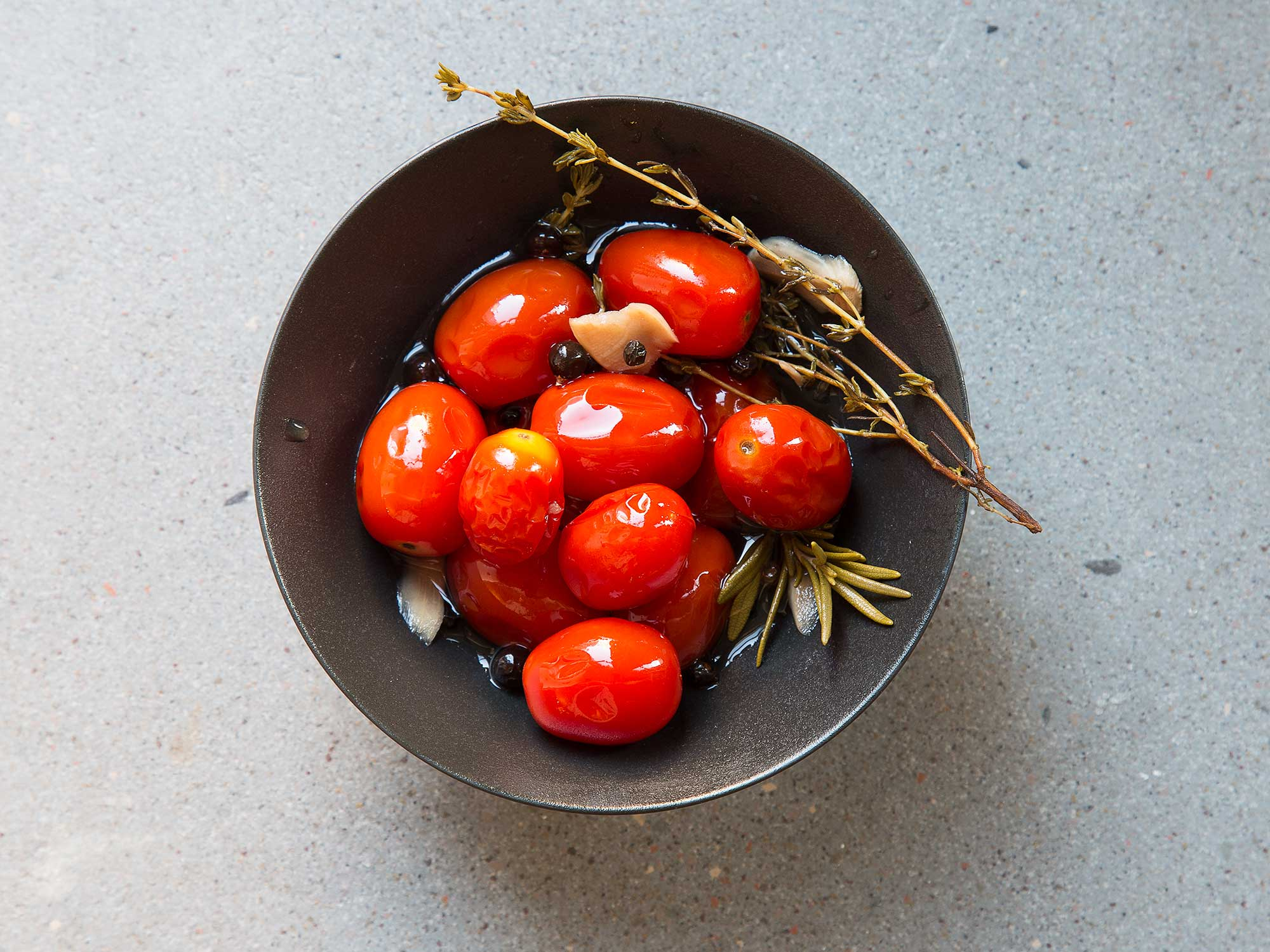 Marcia's Pickled Cherry Tomatoes