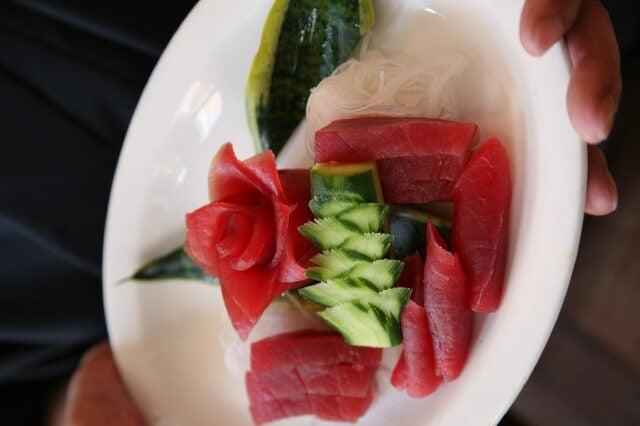 Sashimi with Chef Morimoto