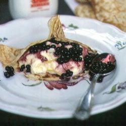 Crêpes with Vanilla Ice Cream