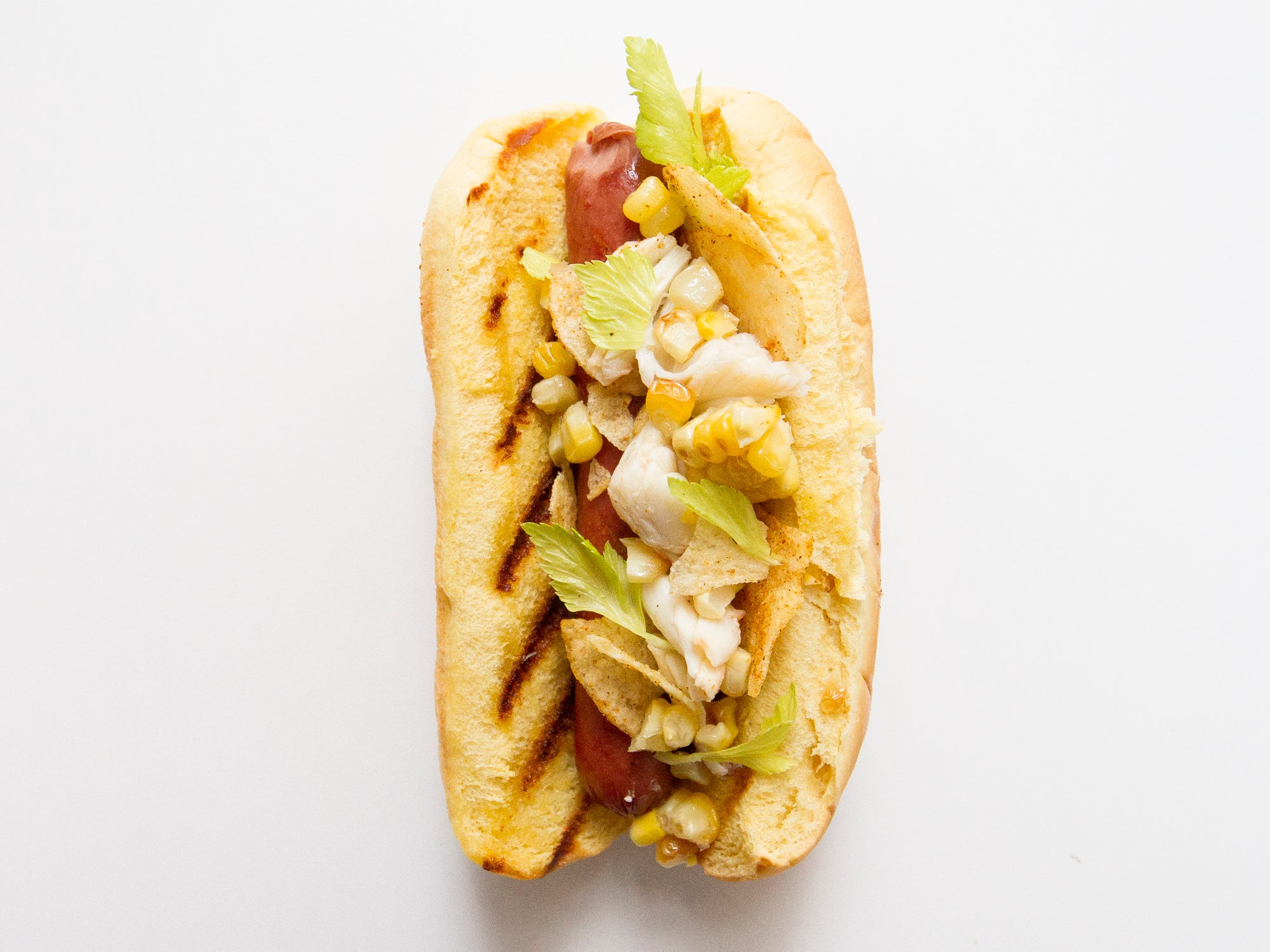 Maryland Crab Hot Dog