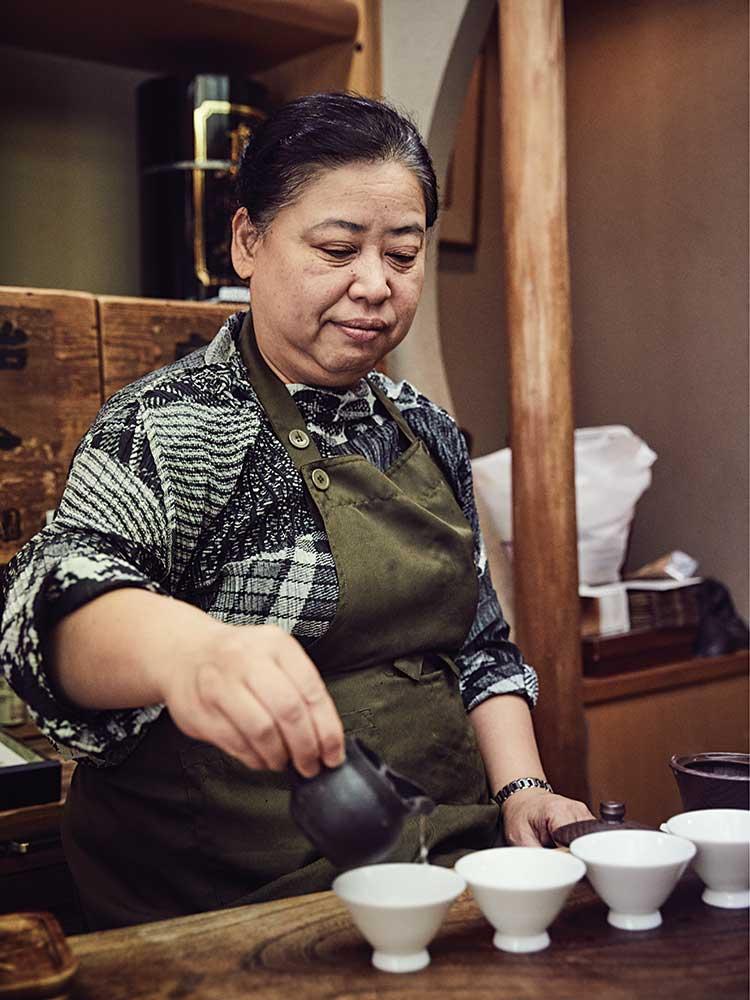 a tea shop in Kyoto