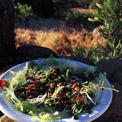 Warm Chanterelle and Pancetta Salad