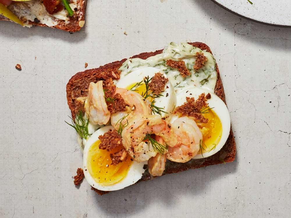 Shrimp, Egg, and Dill Smorrebrod