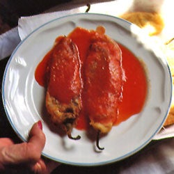 Making Chiles Rellenos