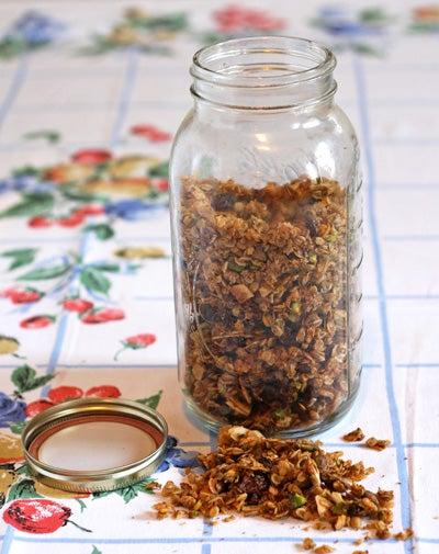 Pistachio-Coconut Olive Oil Granola