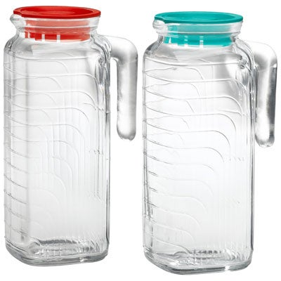 Glass Refrigerator Pitcher Set