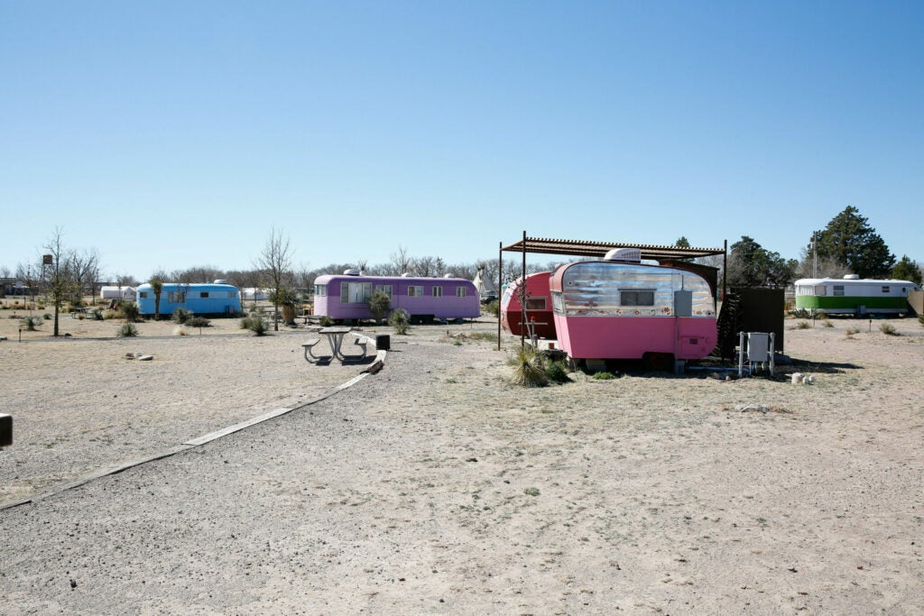 El Cosmico has 12 different trailers to pick from, so there's something for everyone
