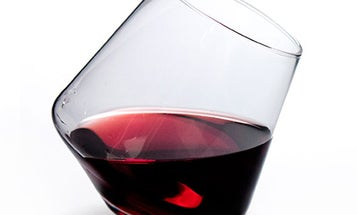Hand-Blown Stemless Wine Glasses