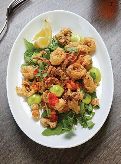Crispy Calamari with Pesto Mayonnaise