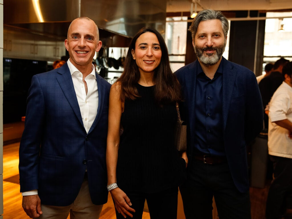 Publisher Greg Gatto with Christophe Attard and his wife Nefissa Attard