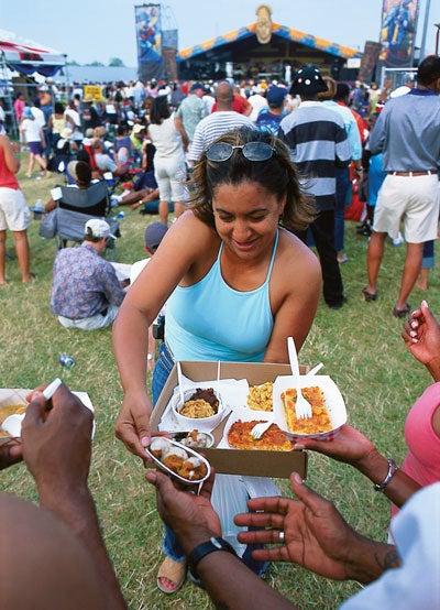 Eating at New Orleans's Jazz Fest