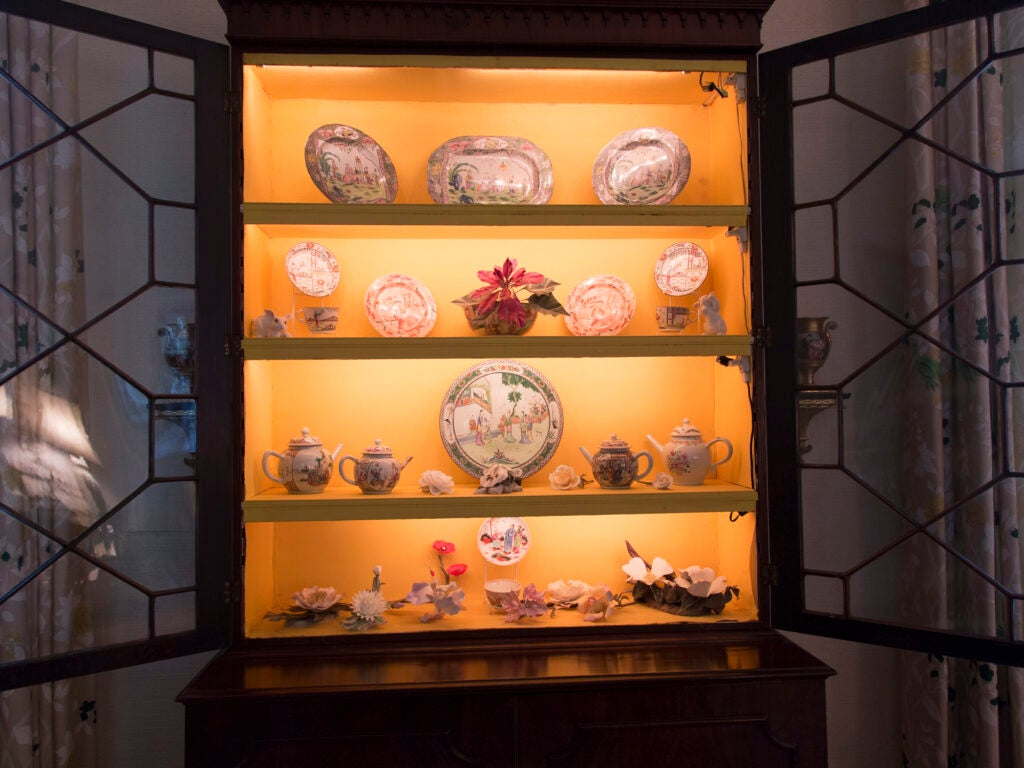 Dottie Brennan, Antique Porcelain, Breakfront, Hutch, China Cabinet