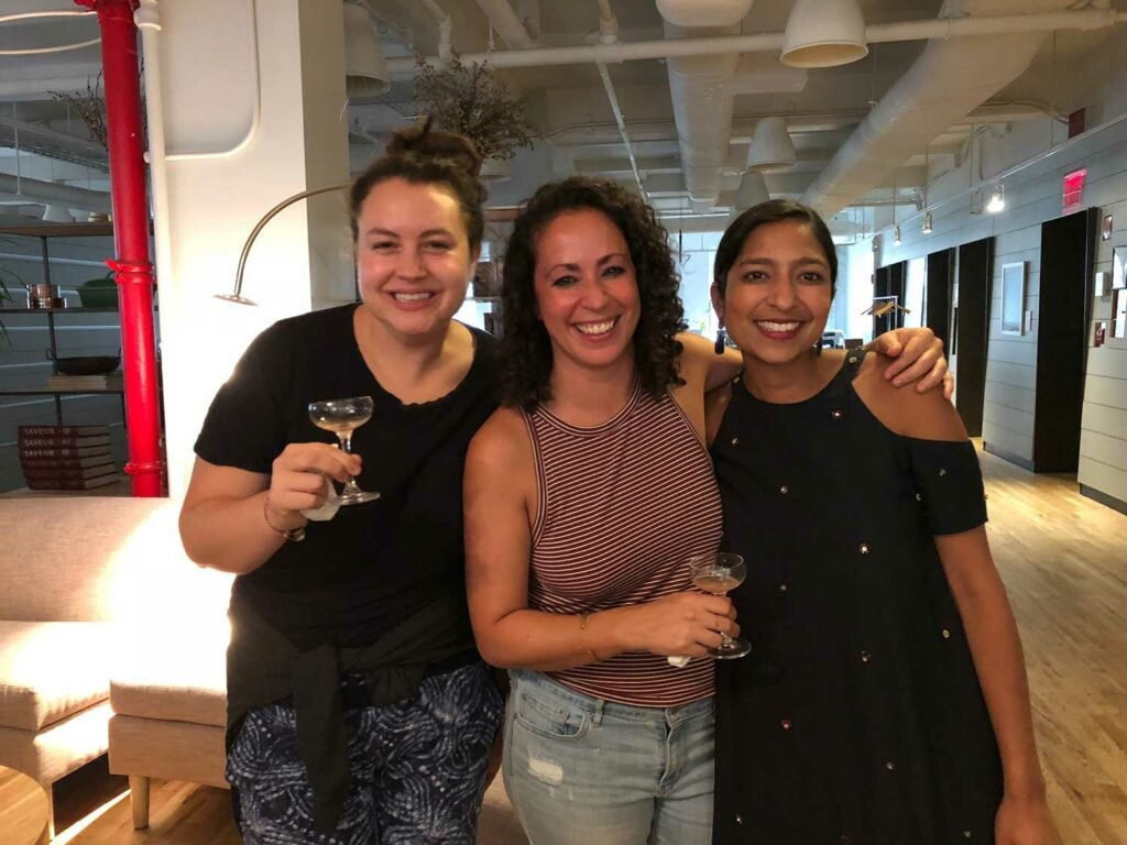 Munchies' Elana Schulman and Farideh Sadeghin with writer Priya Krishna