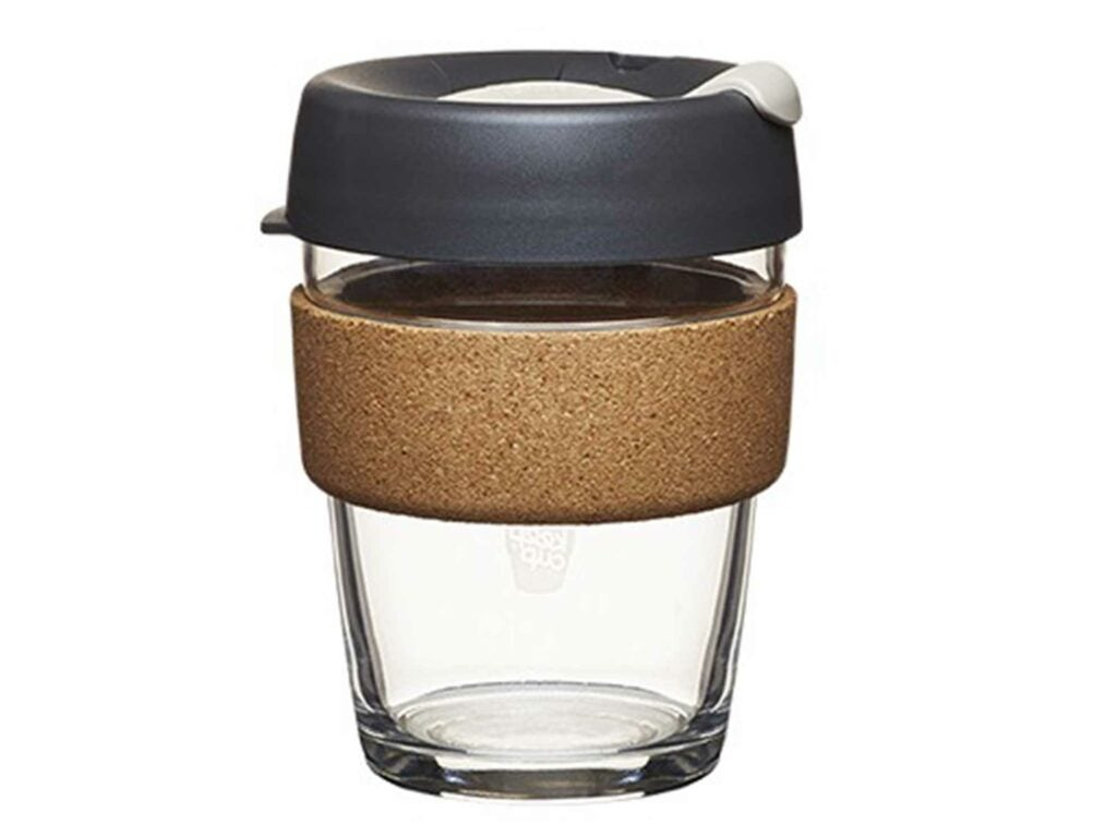 Melbourne glass-cork keep cup
