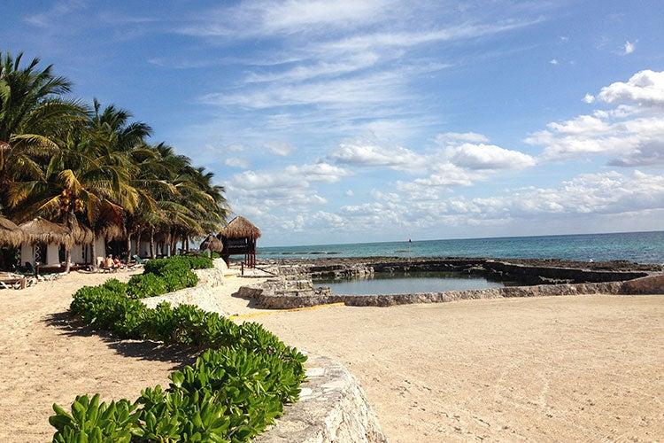 Post Card: From the Beach at El Dorado Royale