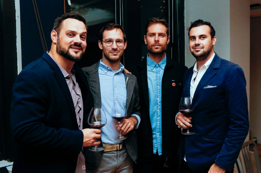 Tony Biancosino, GearPatrol's Nick Caruso, TK, and Writer Mark TK.