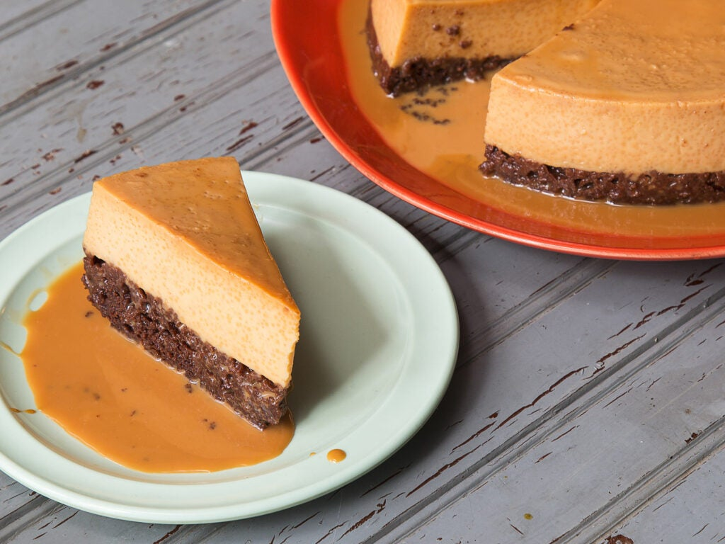 Chocolate Flan Impossible