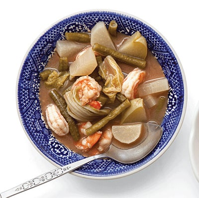 Sour curry with shrimp