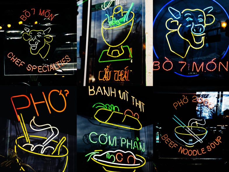 The Incredible Neon Artwork of Boston's Vietnamese Restaurants