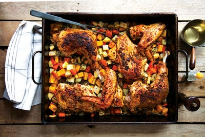 Roast Turkey With Root Vegetables