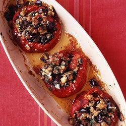 Eggplant-Stuffed Peppers