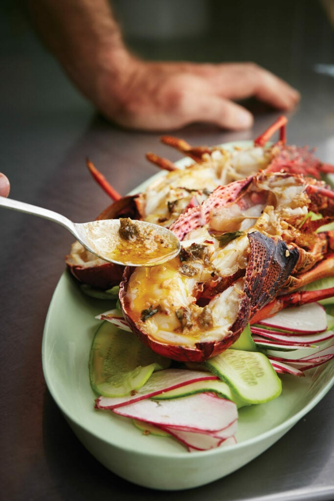Grilled Lobster with Chipotle Garlic Seaweed Butter, Tasmania