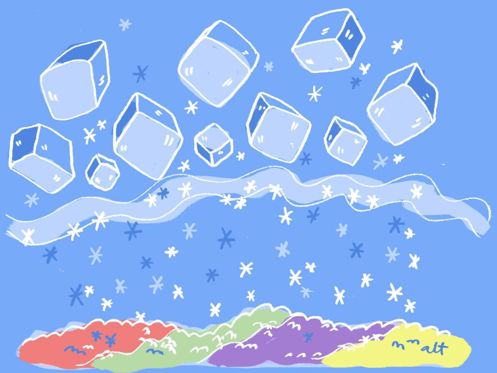 Shaved Ice Cubes