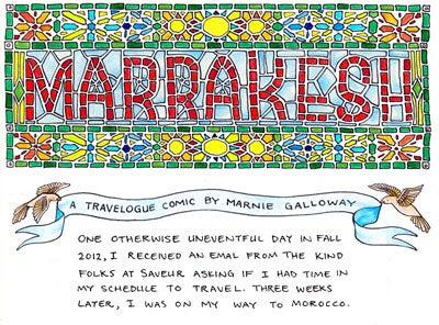 Recipe Comix: A Trip to Marrakesh, Morocco