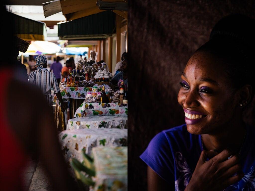 Caribbean market St. Lucia