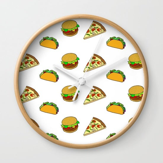 it's always time for pizza, burgers, and tacos