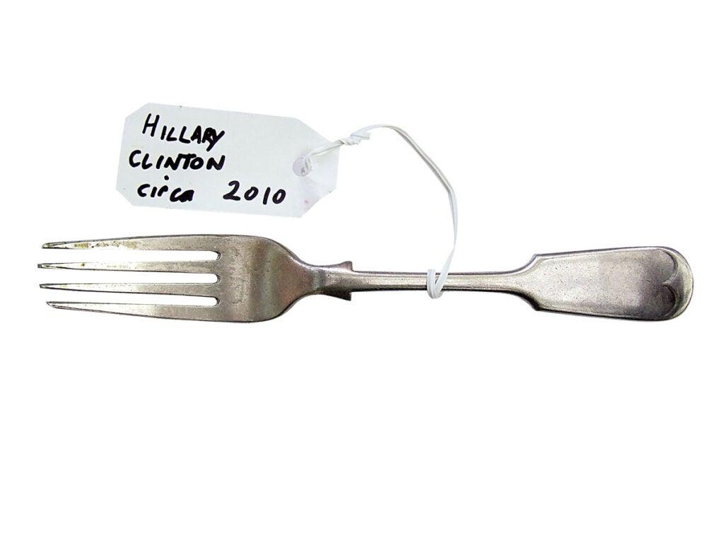 Van T Rudd artist forks - Hilary Clinton