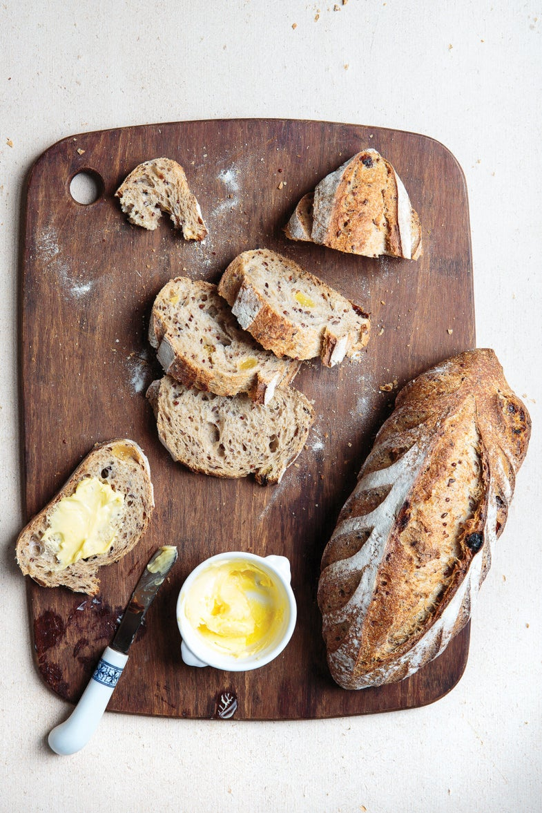 Quinoa-Whole Wheat Bread with Raisins