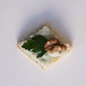 Roquefort and Walnut Canapés