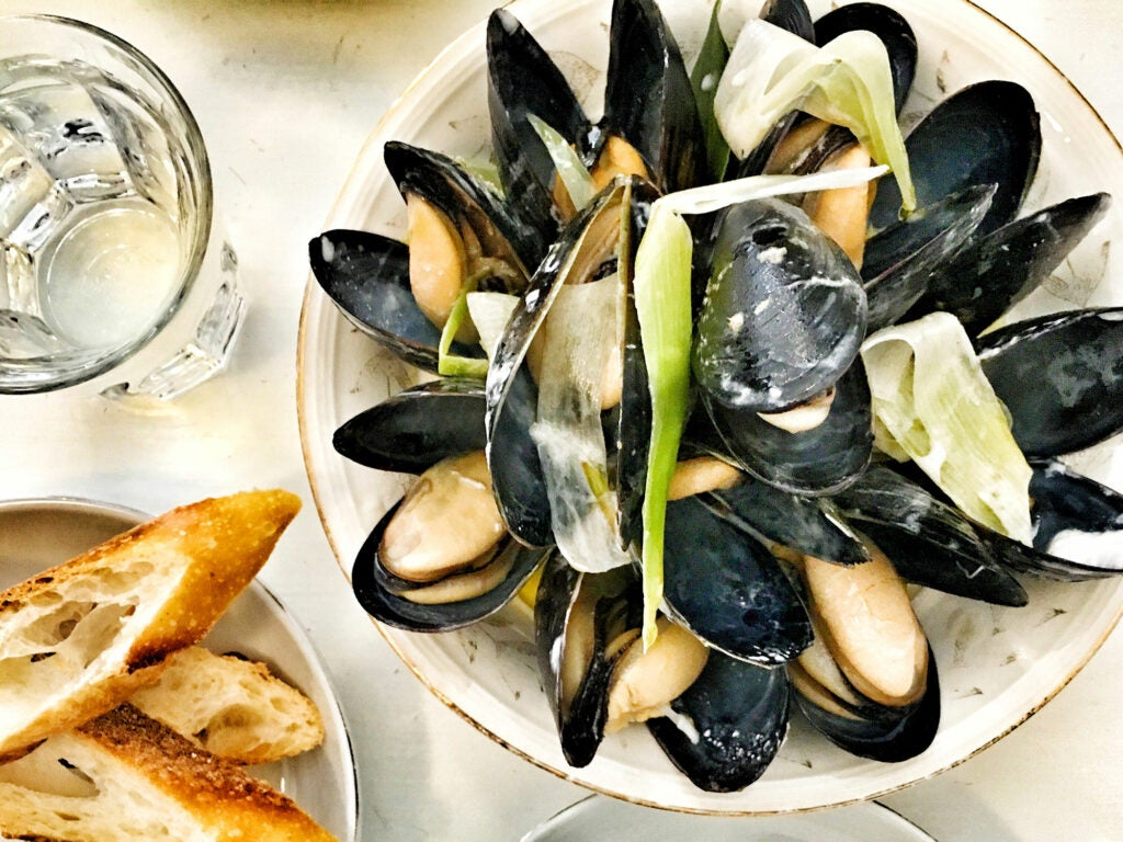 Mussels at Måurice