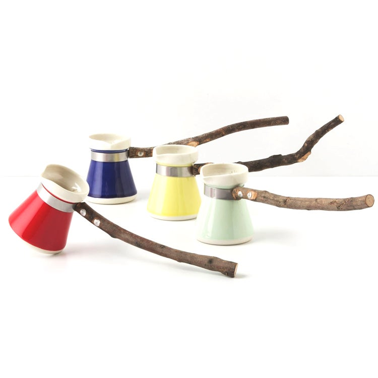 Olive Stem Turkish Coffee Pot
