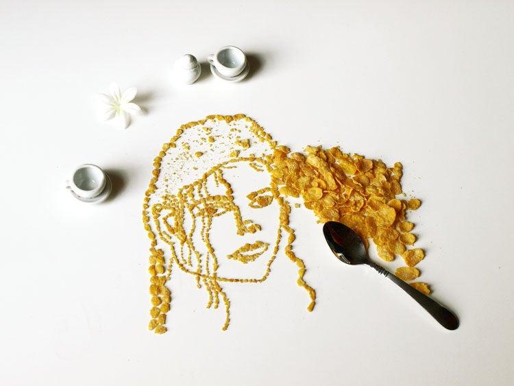 Weekend Reading: Cornflake Portraits, Hot Dog Atheletes, and More