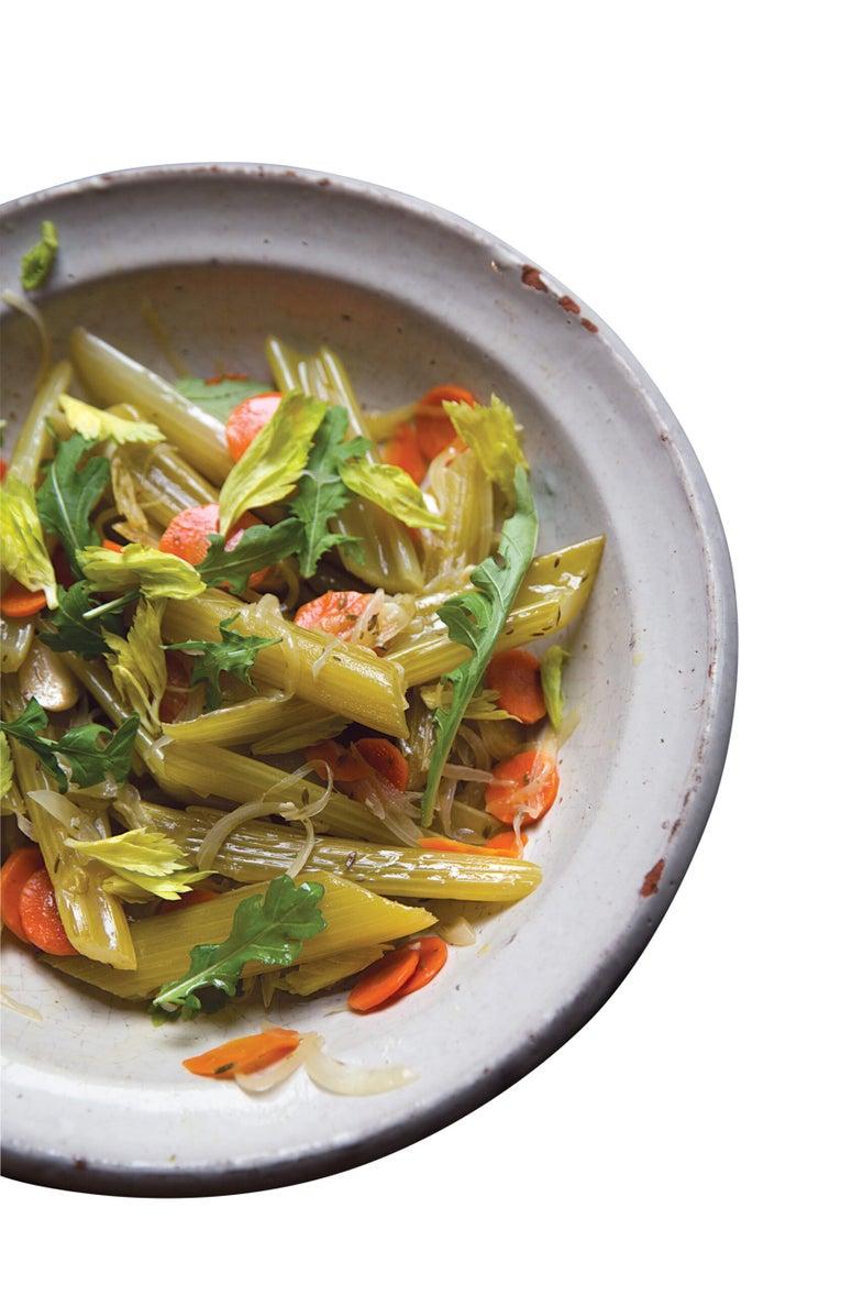 Celery Stewed in Olive Oil (Céleri Barigoule)