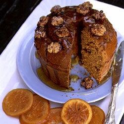 Pumpkin–Walnut Cake with Candied Oranges