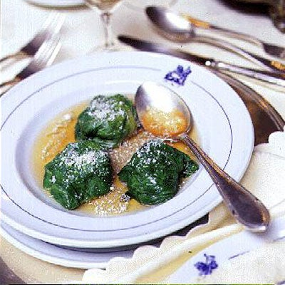 Stuffed Lettuce Leaves in Broth