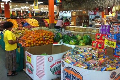 Produce at the Mexican grocer