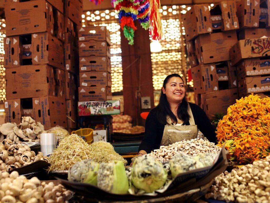 Mercado Merced Produce Stall Fungus