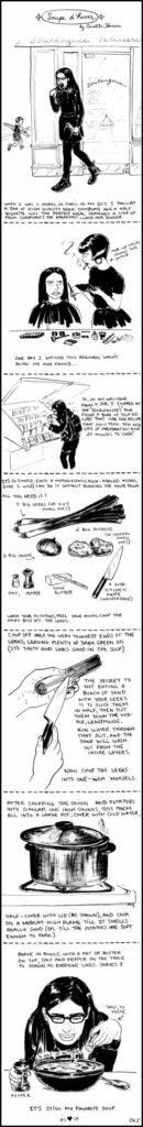 comic strip recipe for potato-leek soup