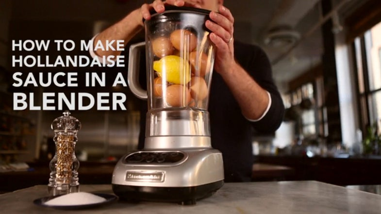 VIDEO: How to Make Hollandaise in a Blender