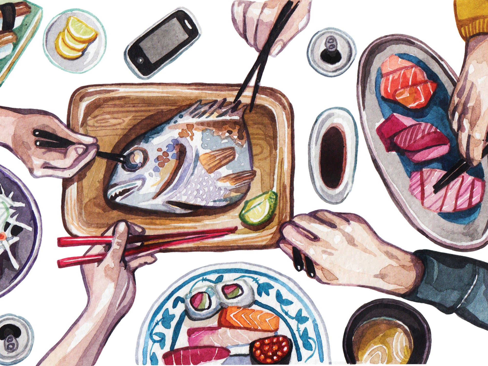 The App that Lets You Eat Sushi with Strangers in Japan