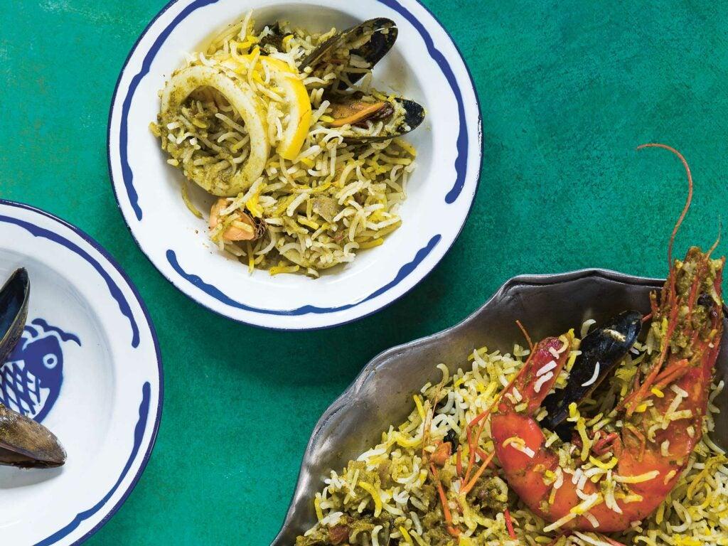 Pakistani Seafood Biryani Biryani