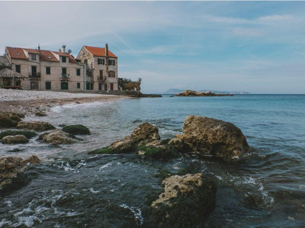 Beach in Komiza, Croatia