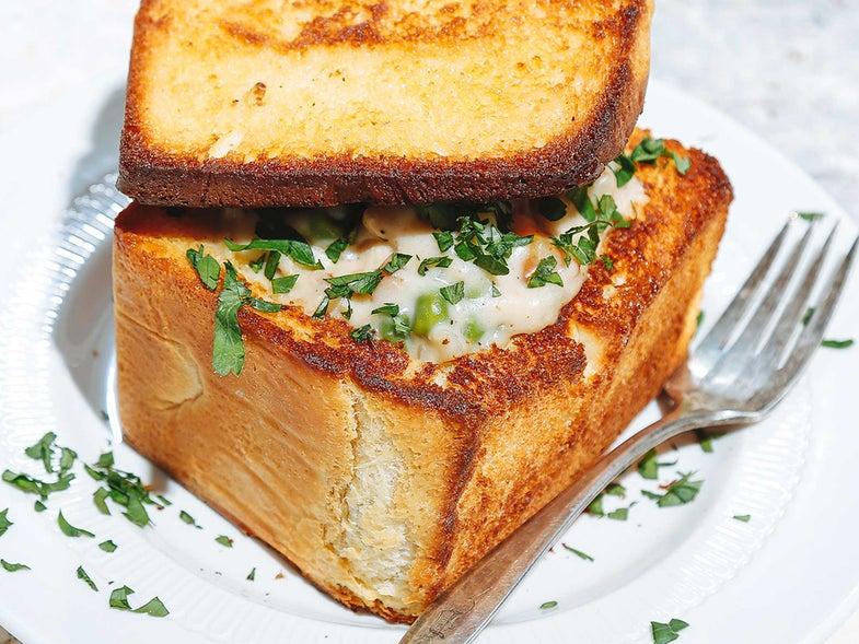 Chicken Blanquette Coffin Bread